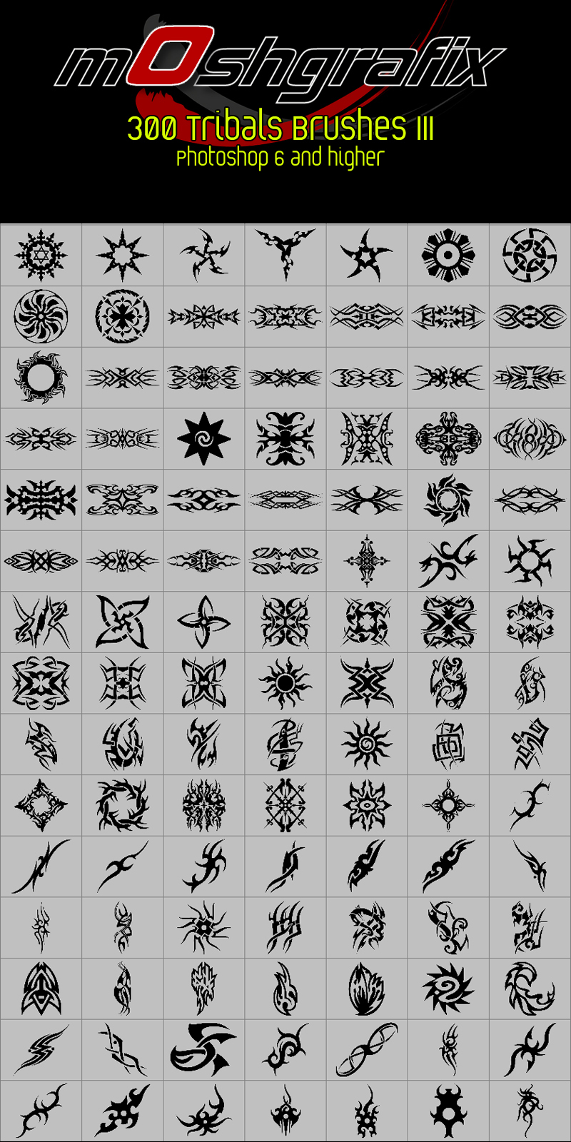 300 Tattoo - Tribal Brushes III