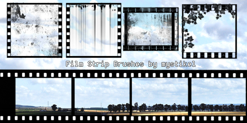 Film Strip Brushes