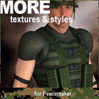 MORE Textures & Styles for Peacemaker Clothing Software Themed motif