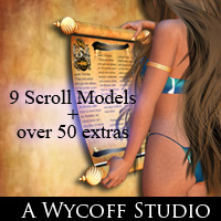 AW_Oracle Scrolls 3D Models 2D Graphics awycoff