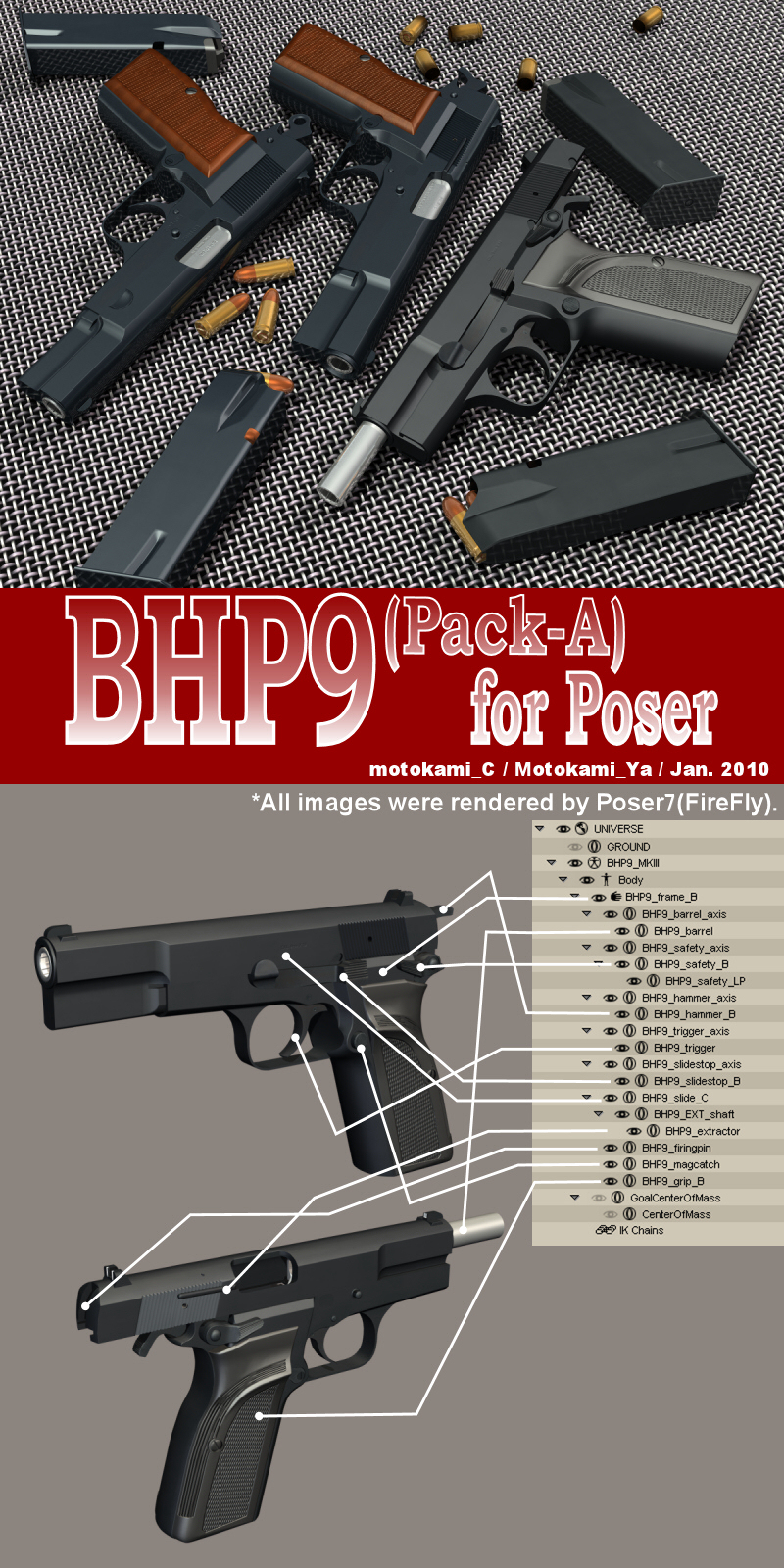 BHP9(Pack-A) for Poser