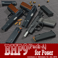 BHP9(Pack-A) for Poser 3D Models motokamishii