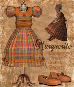 Marguerite conforming dress for Laura 3 3D Figure Assets Tipol