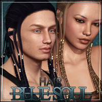 Blue Soul Hair 3D Figure Assets Bice