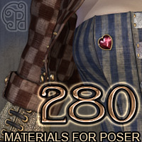 Pd-DirtyPretty Poser Materials 3D Models 2D Graphics 3D Figure Assets parrotdolphin