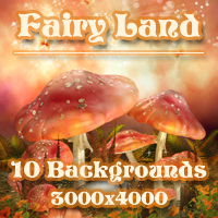 Fairy Land Backgrounds 2D 3D Models -Melkor-