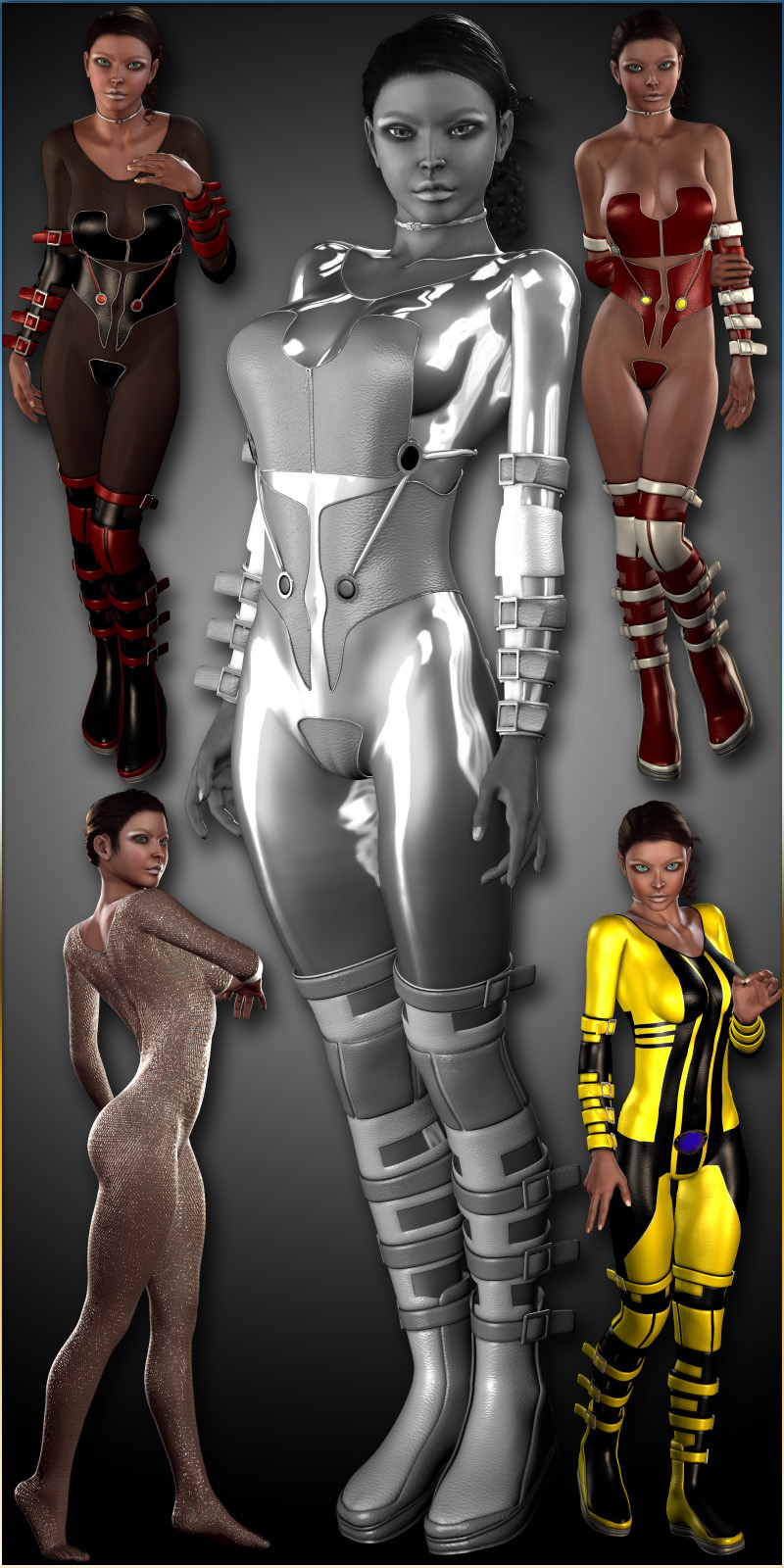 Jasmina's BodySuit-BodyStocking for V4 (Daz Studio 3 and Poser)