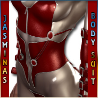 Jasmina's BodySuit-BodyStocking for V4 (Daz Studio 3 and Poser) 3D Figure Assets jasmina