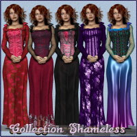 Collection for Shameless Dress 3D Models 3D Figure Assets chasmata