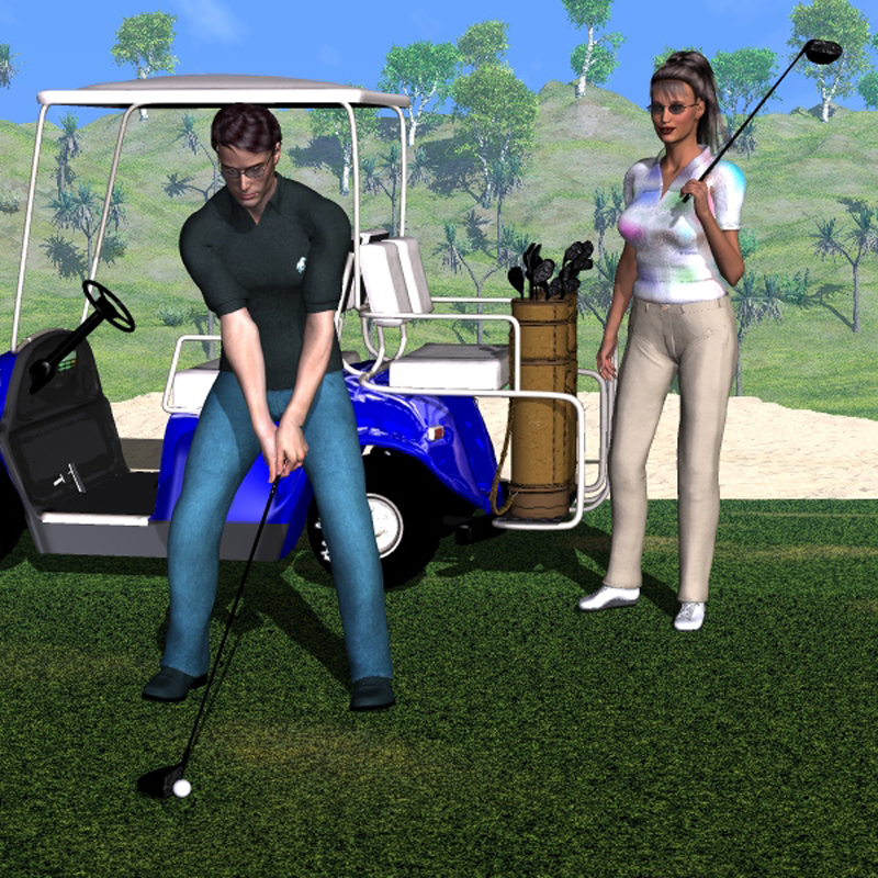 M3 & V3 Golf Clubs, Bag & Poses