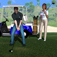 M3 & V3 Golf Clubs, Bag & Poses  3D Figure Essentials 3D Models EdW