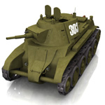 BT-7 Soviet Cavalry Tank (for Poser) 3D Models Lord_Garland