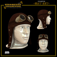 SteamPunk - Hat Set 3D Figure Assets 3D Models jonnte
