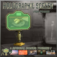 Holographic screen Props/Scenes/Architecture Themed darkvisionary
