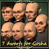 7 dwarfs for Gosha 3D Models smay