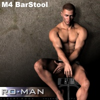 M4 BarStool 3D Figure Essentials RO_MAN
