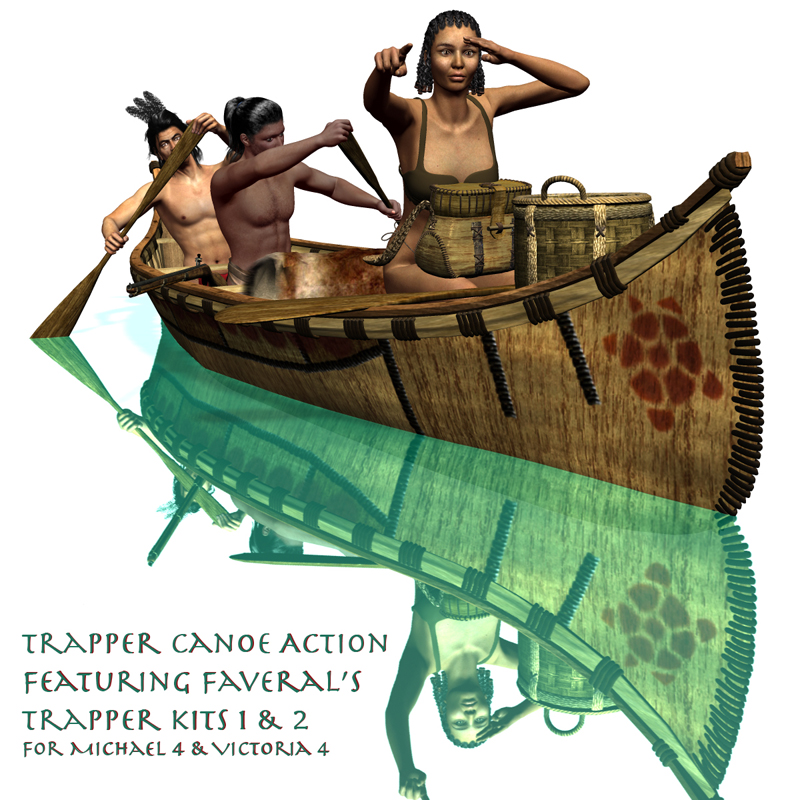 Trapper Canoe Action