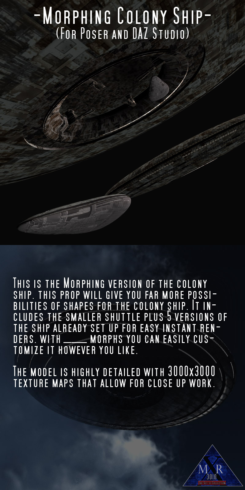 Morphing Colony Ship (Poser/Daz)