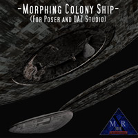 Morphing Colony Ship (Poser/Daz) Themed Software Props/Scenes/Architecture MRX3010