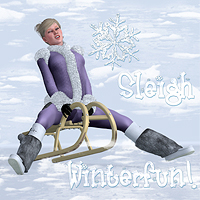 Winterfun for V4 - The Sleigh 3D Models Software 3D Figure Essentials Digital-Lion