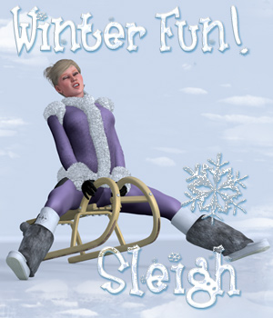 Winterfun for V4 - The Sleigh 3D Figure Assets 3D Models 3D Lighting : Cameras Digital-Lion