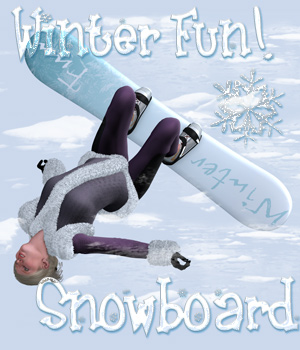 Winterfun for V4 - The Snowboard 3D Models 3D Figure Essentials Lights OR Cameras Digital-Lion