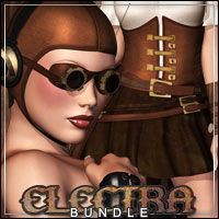 ELECTRA Outfit & Headwear Bundle 3D Models 3D Figure Essentials outoftouch