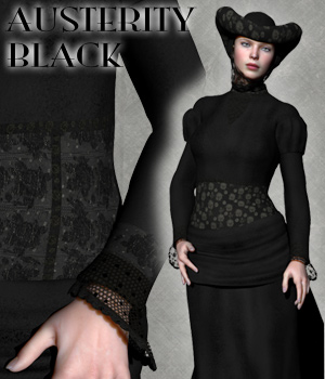 Austerity Black for MFD 3D Models 3D Figure Assets RAGraphicDesign