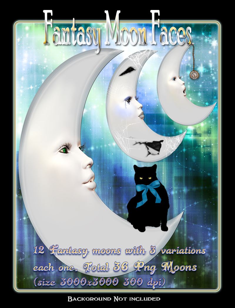 Fantasy Moon Faces
