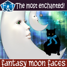 Fantasy Moon Faces 2D Graphics EmmaAndJordi