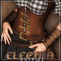 ELECTRA Outfit for V4/A4/G4/Topmodel 3D Figure Essentials 3D Models outoftouch