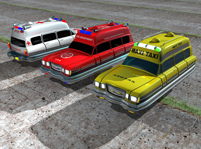 Hover vehicle pack by kanaa