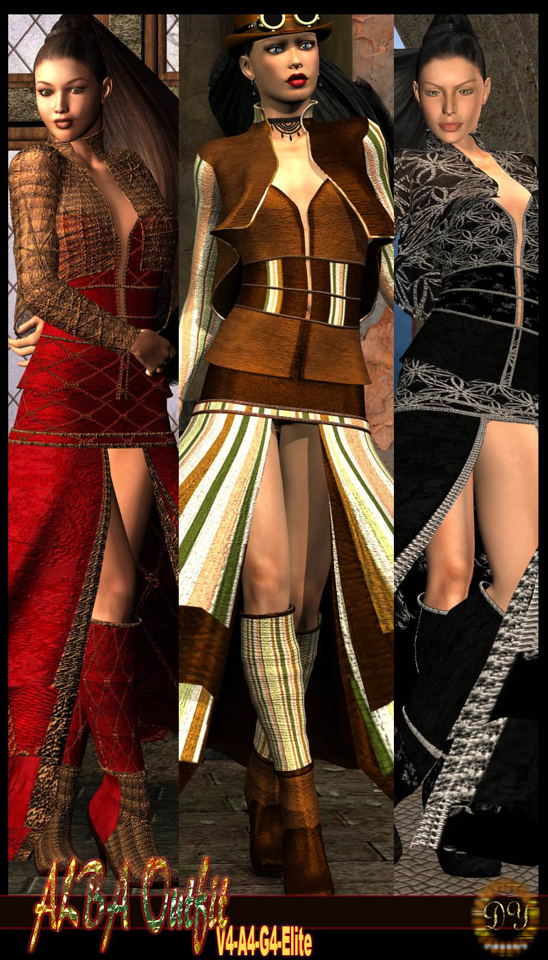 DY ALBA Outfit for V4-A4-G4-Elite