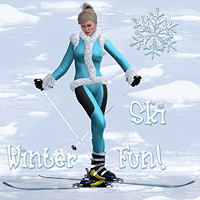 Winterfun for V4 - The Skis 3D Models Software 3D Figure Essentials Digital-Lion