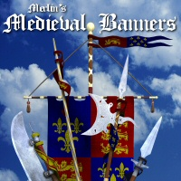 Merlin's Medieval Banners 3D Models 3D Figure Essentials Merlin_Studios