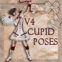 V4 Cupid Poses 3D Figure Essentials 3D Models Digiport