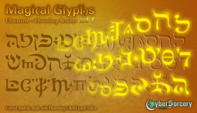 Magical Glyphs - Characters 1