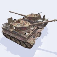 Tiger I Mid Production for Poser 3D Models ranman38