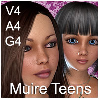 Muire Teens : V4 - A4 - G4 3D Models 3D Figure Essentials Amaranth