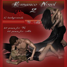 Romance Novel 2 - V4/M4 3D Models 2D Graphics 3D Figure Assets ilona