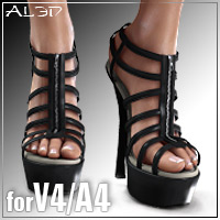 Shoe Pack5 for V4/A4 3D Figure Assets _Al3d_