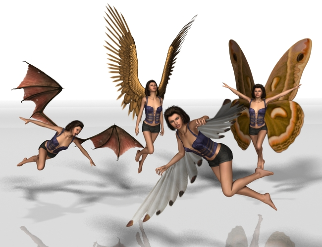 V4 Creature Wing Poses