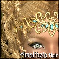 Amaltheia Hair 3D Figure Assets 3Dream
