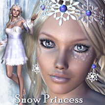 Snow Princess 3D Models 3D Figure Essentials LMDesign