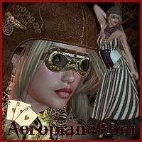 SteamPunk Series Vol.1 AeroplaneCom-V4,A4,G4 3D Figure Essentials 3D Models renapd