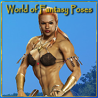 World of Fantasy Poses For V4 3D Figure Essentials scooby37