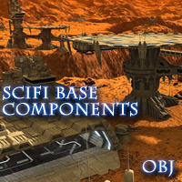 Allied Fleets Base Components - OBJ Format 3D Models skynet3020