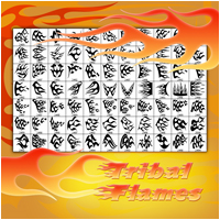 Tribal Flames 2D Graphics Atenais
