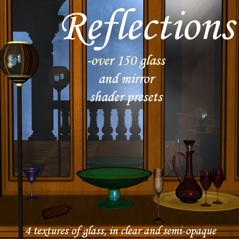 Reflections - Glass and Mirror Shader Preset for Daz Studio