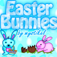 Easter Bunnies 3D Models 2D Graphics mystikel